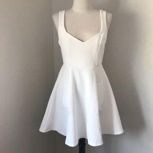 Nasty Gal V neck white dress.